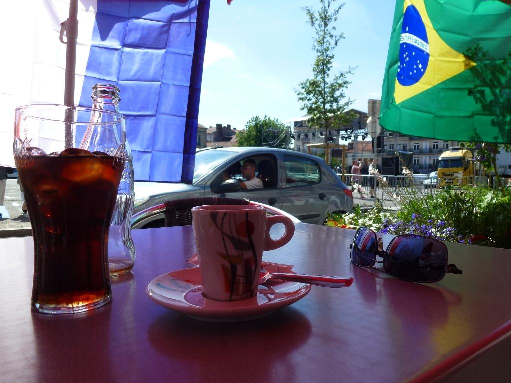 le bar des platanes à Firminy