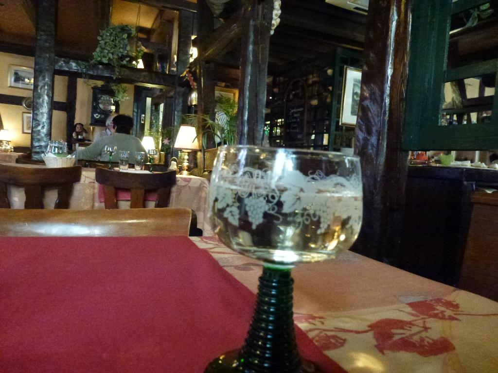 un verre de riesling